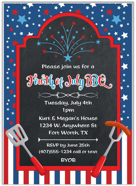 4th of july party invitation