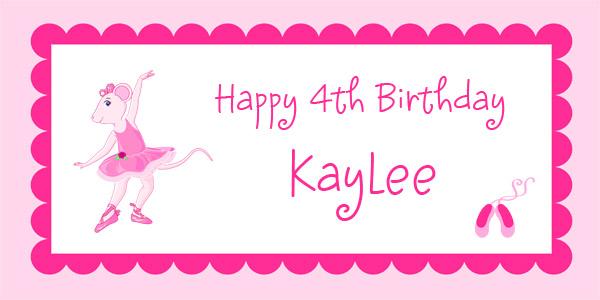 Angelina Ballerina Birthday Party Banner – Angelina Ballerina Birthday Invitations