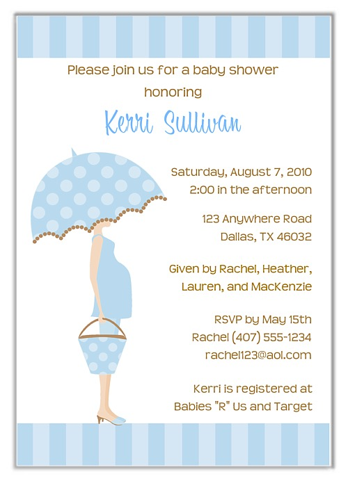 Mod mom blue trendy baby shower invitations boy baby shower filmwisefo Choice Image