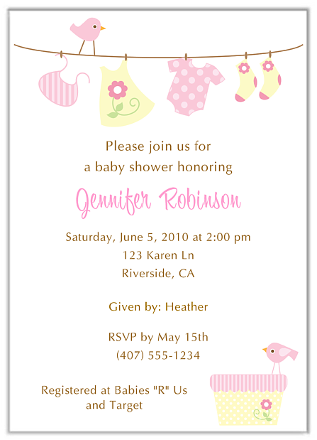 Trendy clothesline baby shower invitations boy girl filmwisefo