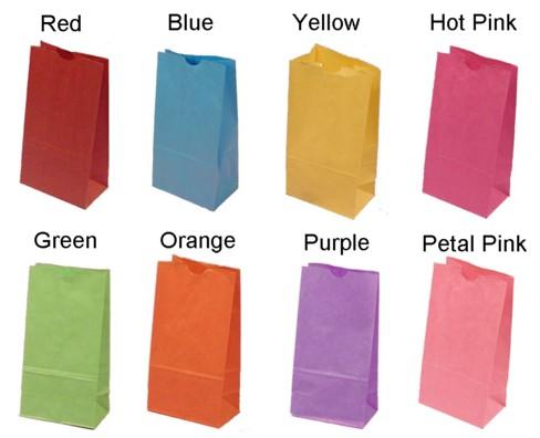 Colored Goo Loot Bags 6 Pk