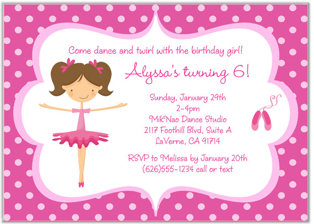 Ballet ballerina birthday party invitations balletangelina ballet ballerina birthday party invitations balletangelina ballerina kids birthday filmwisefo