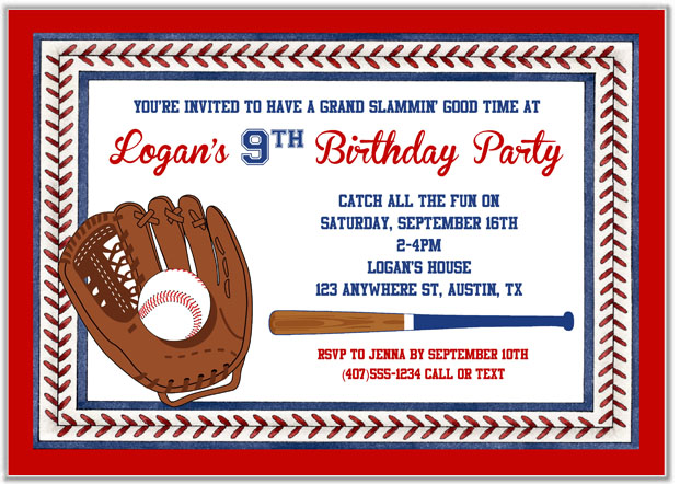 baseball birthday party invitations | baseball | sports | kids, Birthday invitations