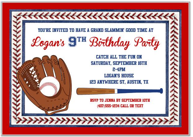 Catalog Baseball Birthday Party Invitations