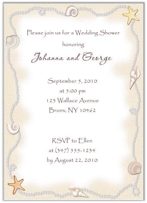 Bridal shower beach ocean wedding invitations filmwisefo