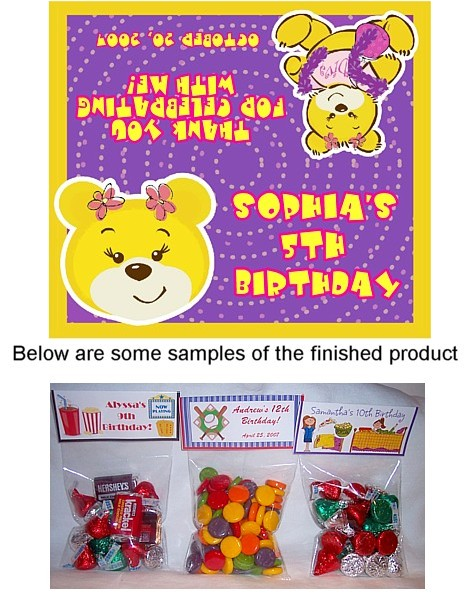 Build a Bear Workshop Birthday Party Bag Toppers – Build a Bear Invitations Birthday