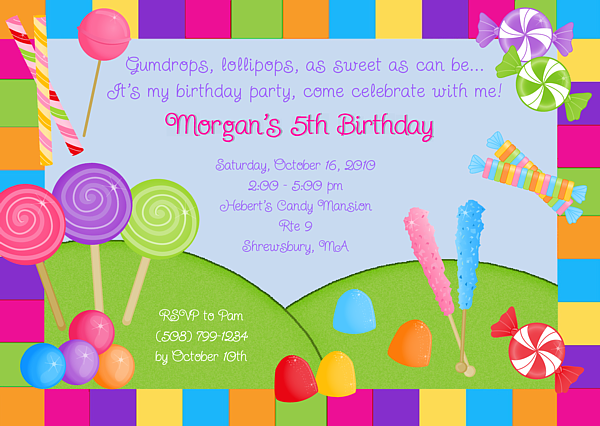 candyland party invitations printable quotes filmwisefo