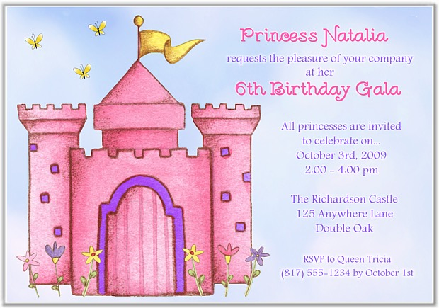 Birthday Party Invitations Princess