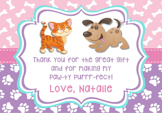 Thank you dog and cat