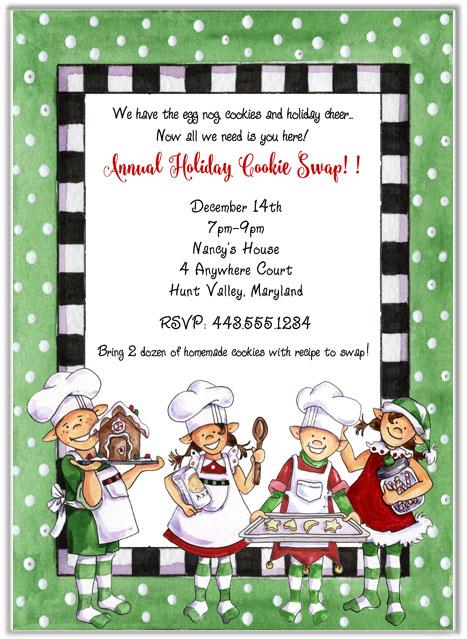 Christmas Cookie Swap Exchange Invitations