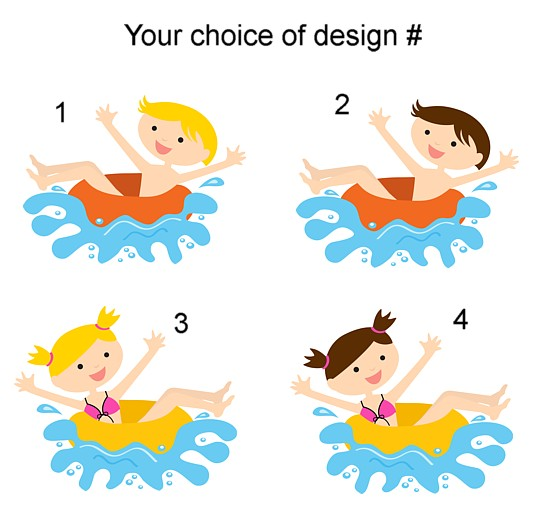 Waterslide Pool Party Birthday Invitations – Water Slide Party Invitations