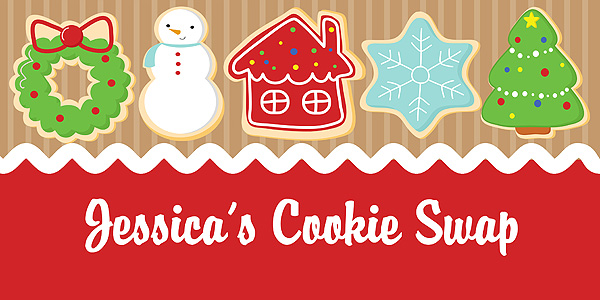 christmas holiday cookie swap exchange party banner - Christmas Cookie Exchange Party