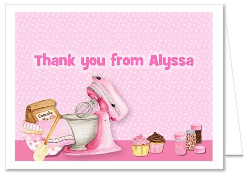 Peachy Cooking Baking Birthday Party Thank You Note Cards Funny Birthday Cards Online Hetedamsfinfo