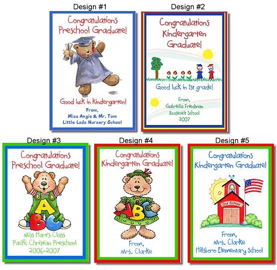 Kindergarten Preschool Graduation Crayon Box Labels Favors