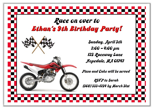 Kids Birthday Party Invitations Reptile Mermaid and more Page 7 – Motocross Birthday Invitations