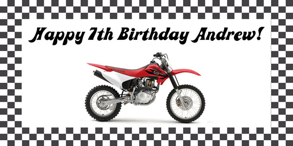 Dirt Bike Birthday Party Banner