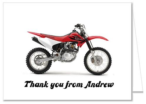 Dirt Bike Birthday Party Thank You Note Cards Personalized – Motocross Birthday Cards