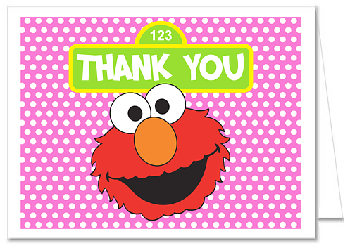 Elmo Thank You Note Cards Personalized