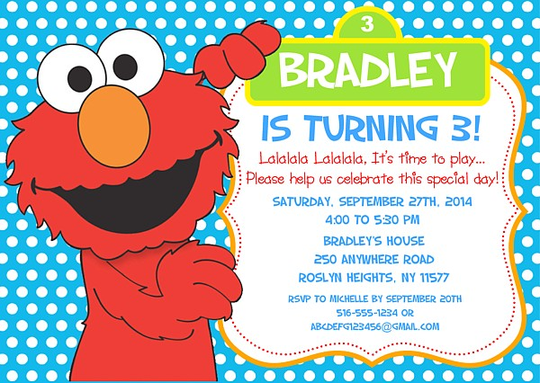 Catalog Elmo Birthday Party Invitations