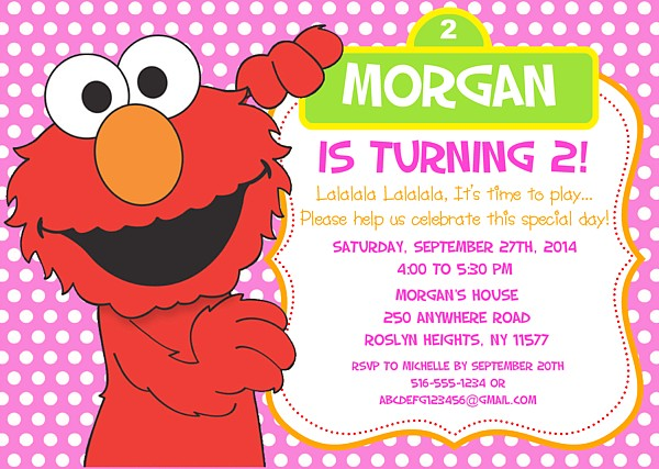 Elmo Birthday Party Invitations | Sesame Street | Kids ...