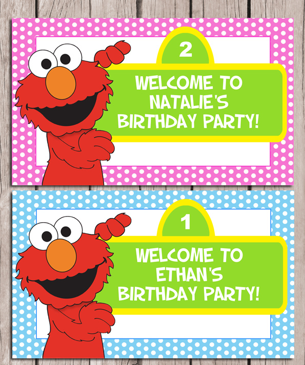 Catalog Elmo Birthday Party Sign Personalized