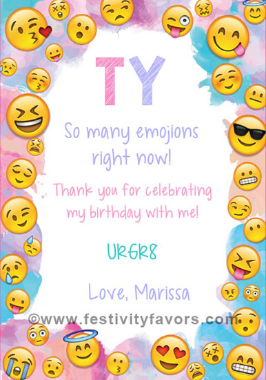 Emoji Thank You Cards Personalized