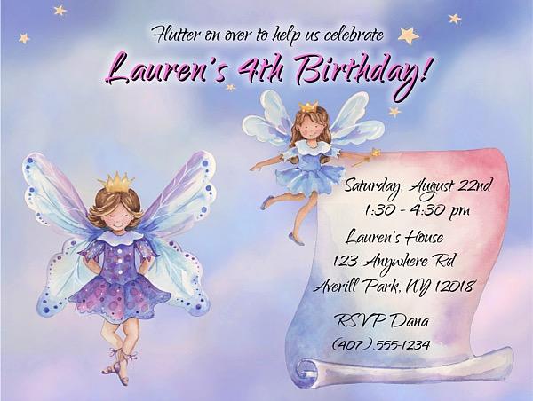 Fairy fairies birthday party invitations fairies kids birthday birthday party invitations fairy filmwisefo