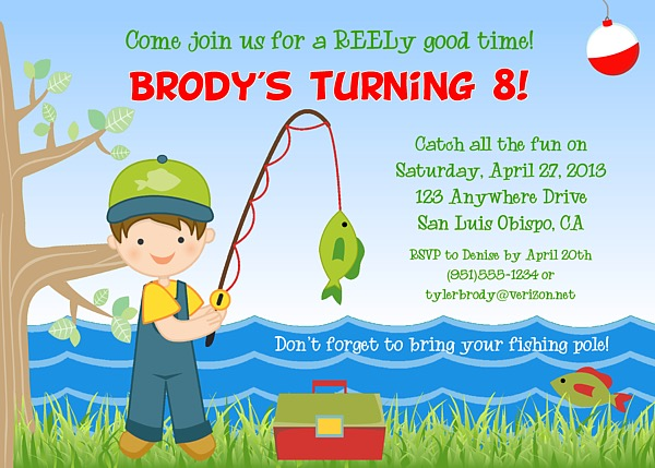Catalog Fishing Birthday Party Invitations