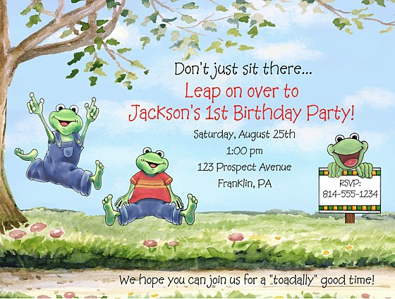 Frog birthday party invitations frog kids birthday catalog frog birthday party invitations frog filmwisefo Images