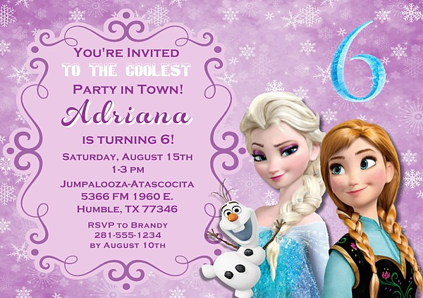 Frozen Birthday Party Invitations | Disney | Kids Birthday