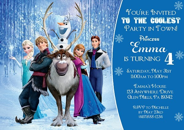 Frozen Birthday Party Invitations Disney – Party Invitations Frozen