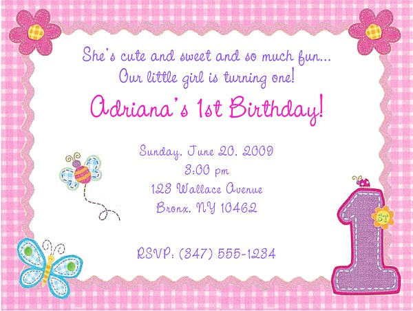 hugs and stitches 1st birthday girl party invitations 1st birthday