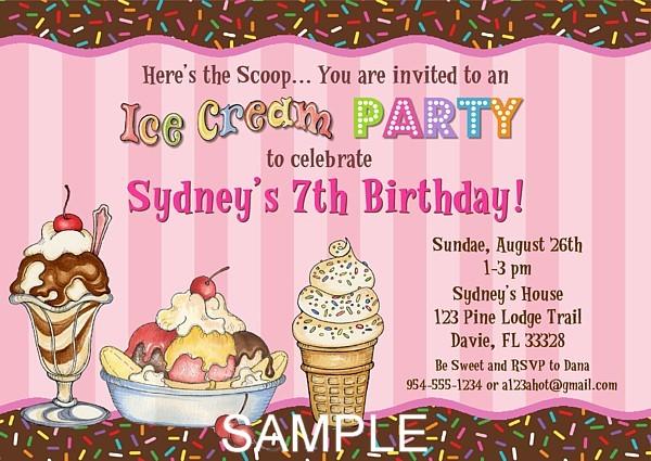 ice cream birthday party invitations | ice cream | kids birthday, Party invitations