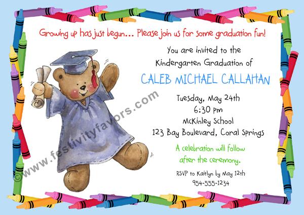 kindergarten preschool graduation invitations  graduation, Quinceanera invitations