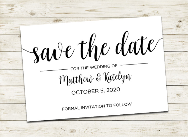 modern wedding save the date cards