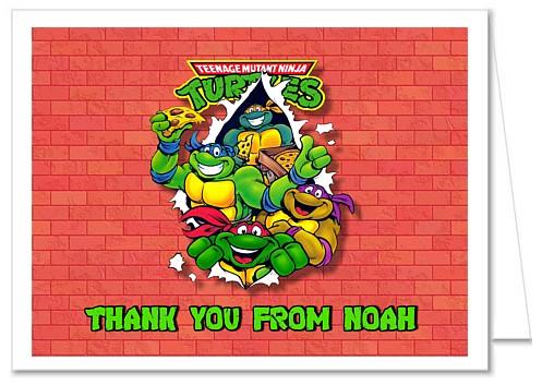 Strange Teenage Mutant Ninja Turtles Thank You Note Cards Personalized Funny Birthday Cards Online Hetedamsfinfo