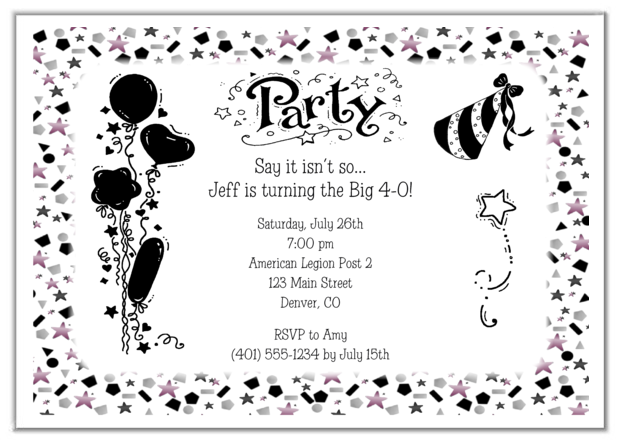 Adult Birthday Invitation Wording and get inspiration to create nice invitation ideas