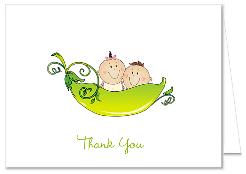 catalog two peas in a pod baby shower thank you note cards