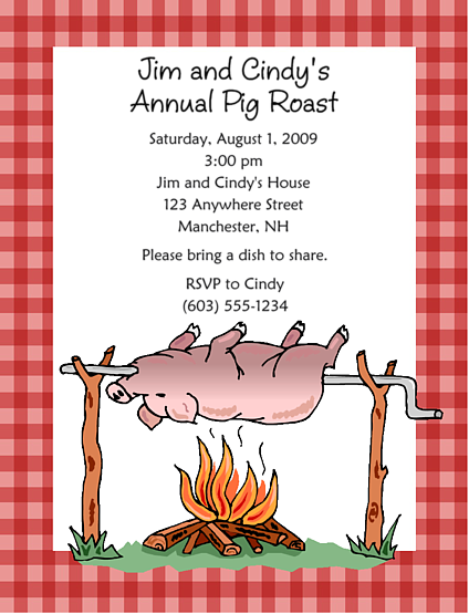 Pig Roast Invitation Template as best invitation template