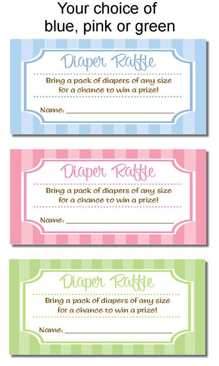 Catalog > Trendy Stripe Baby Shower Diaper Raffle Tickets