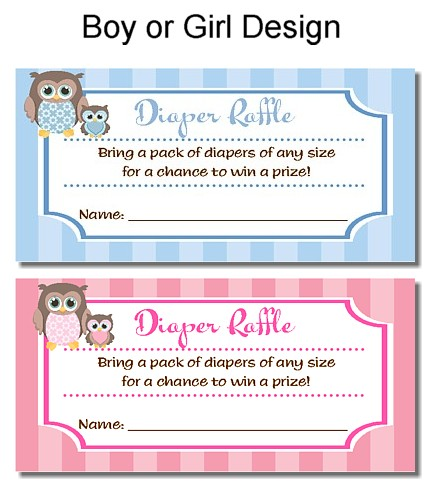 baby shower diaper raffle tickets free template search results