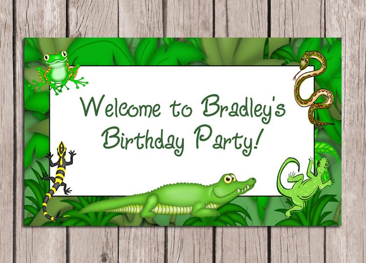 Reptile birthday party sign kids birthday filmwisefo