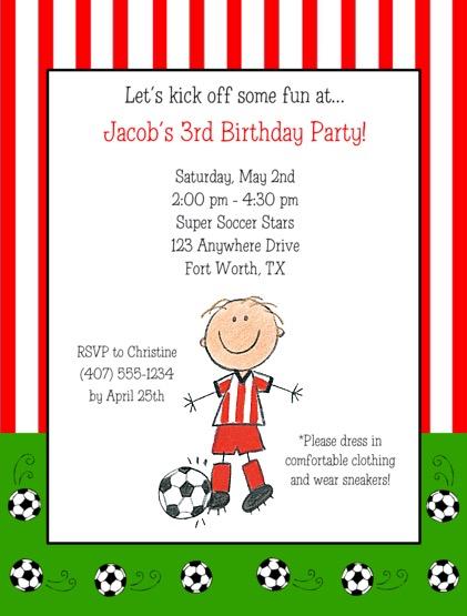 Soccer birthday party invitations filmwisefo