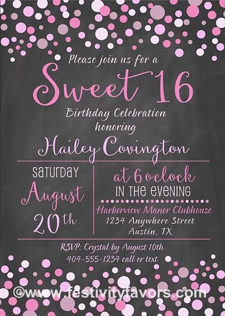 sweet 16 birthday invitations – gangcraft, Party invitations