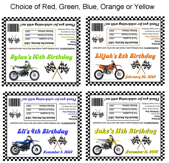 Dirt Bike Birthday Party Bag Toppers Loot Bags Favors – Motocross Birthday Invitations