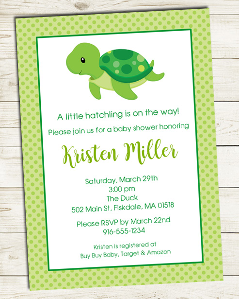 Catalog Turtle Baby Shower Invitations This