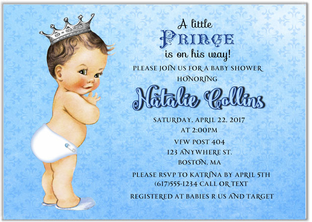 Prince baby shower invitations baby shower filmwisefo