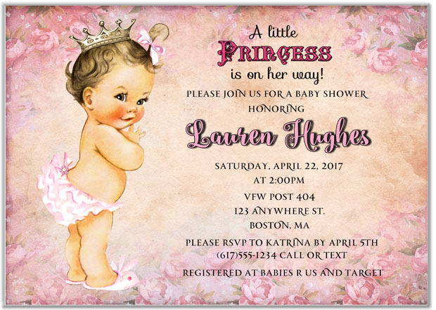 Princess Baby Shower Invitations