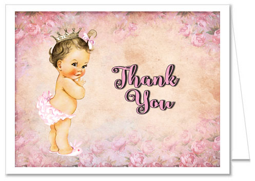 Princess Baby Shower Thank You Note Cards