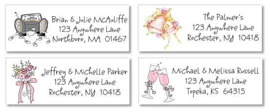 bridal shower wedding return address labels bridal shower wedding ...